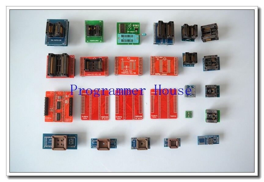 2020 New 100% Original XGecu Full 25 Universal  Adapters For Programmer TL866 TL866II Plus TL866A TL866CS