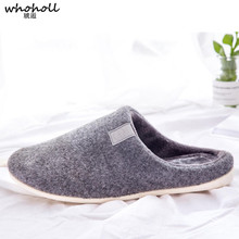Slippers Men 2018 Interior House Plush Soft Cotton Home Slippers Non-slip Floor Furry Slippers Unisex Couple Man Shoes Bedroom
