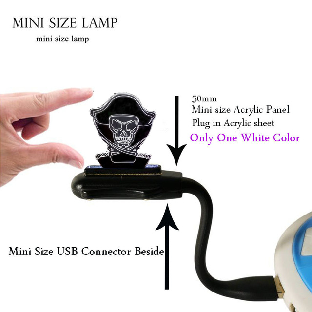 Dessin anim Pirates des Carabes 3D Lampe USB Multicolore ...