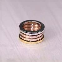 לוגו של מותג חדש גרסת חתונת אהבת טבעת פלדת טיטניום 3 טבעת אירוסין טבעת זוג גברים נשים צבע תמהיל בולגריה תכשיטי