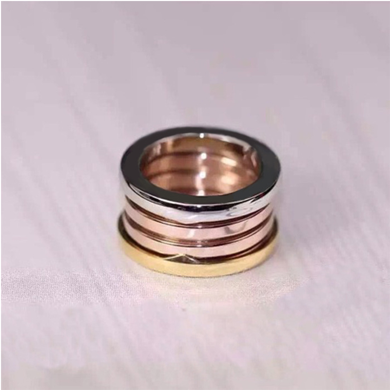 New Brand logo version wedding love ring titanium steel 3 mix color couple ring for women men engagement ring bulgaria jewelry equte coo18c4s69 titanium steel cross love couple s ring black golden silver women 6 men 9