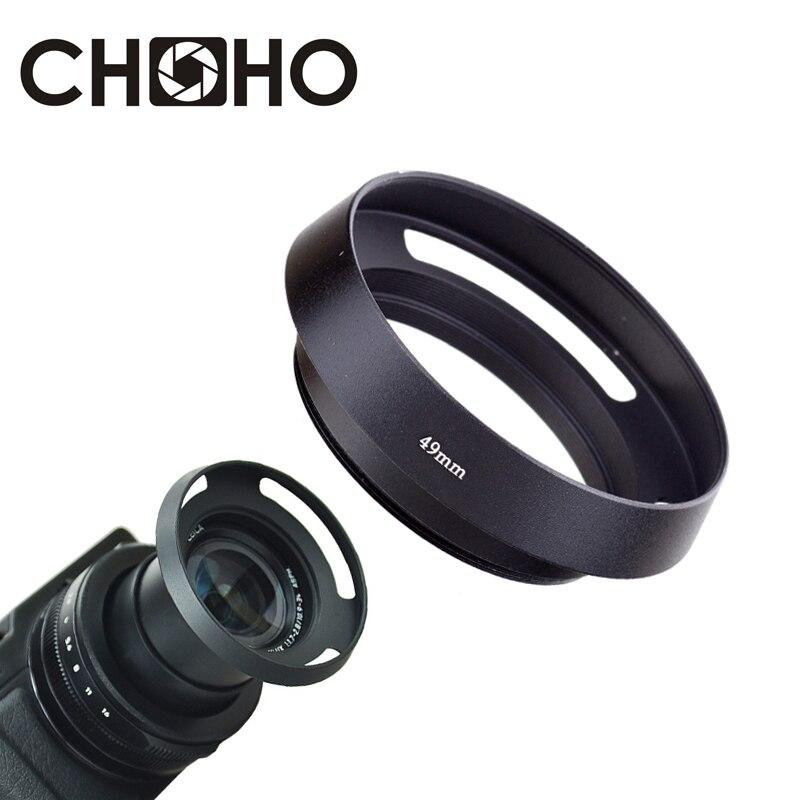55mm Pro Angle Vented Metal Lens Hood for Canon Nikon Sony Pentax camera lens