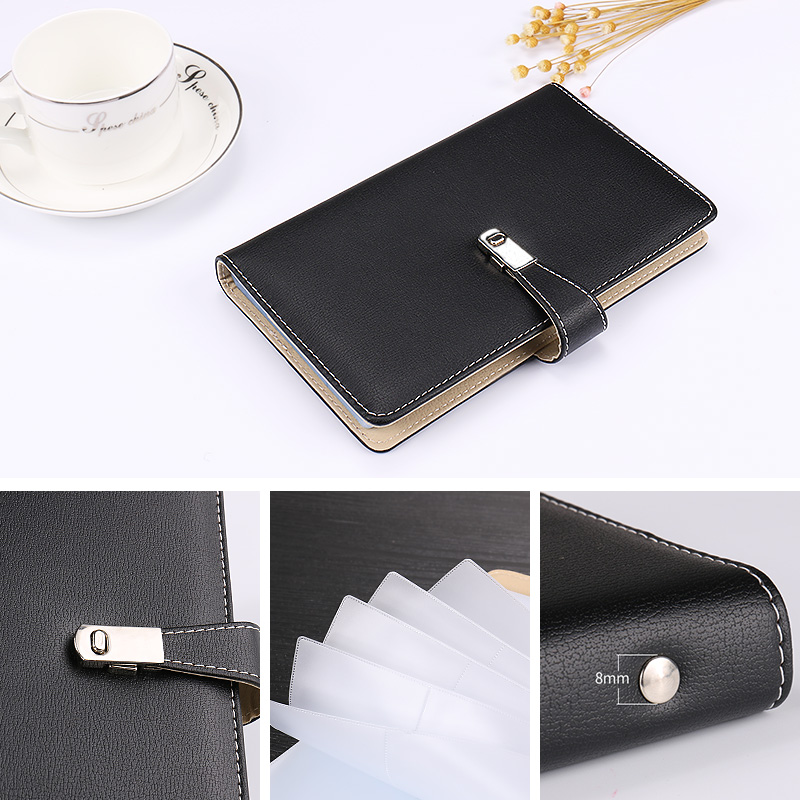 Business Card Holder Name Card Book With Hasp Large Capacity 90120