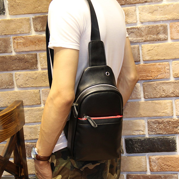 New Male Chest Bag Man Messenger Bags Casual Fashion Men Travel Bag PU Leather Small Crossbody Back Phone Pack Men Shoulder Bag fashion vintage men messenger bags chest pack travel male genuine leather casual chest small retro shoulder bag coffee md l096