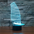 Hot 3D Sailboat LED Bedroom Table Lamp Touch Buttons Christmas USB 7 Colors Night Light Valentine's Day Birthday Gift-3D-TD204