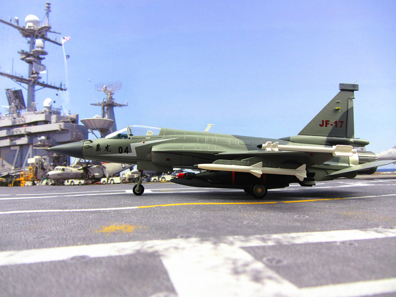 China Airforce CPLA FC-1 length 32CM thunder fighter 1:45 model Chengdu FC-1/JF-17 aircraft model alloy model k 8 model to teach eight trainer model k8 jet simulation model 1 35 china airforce of cpla
