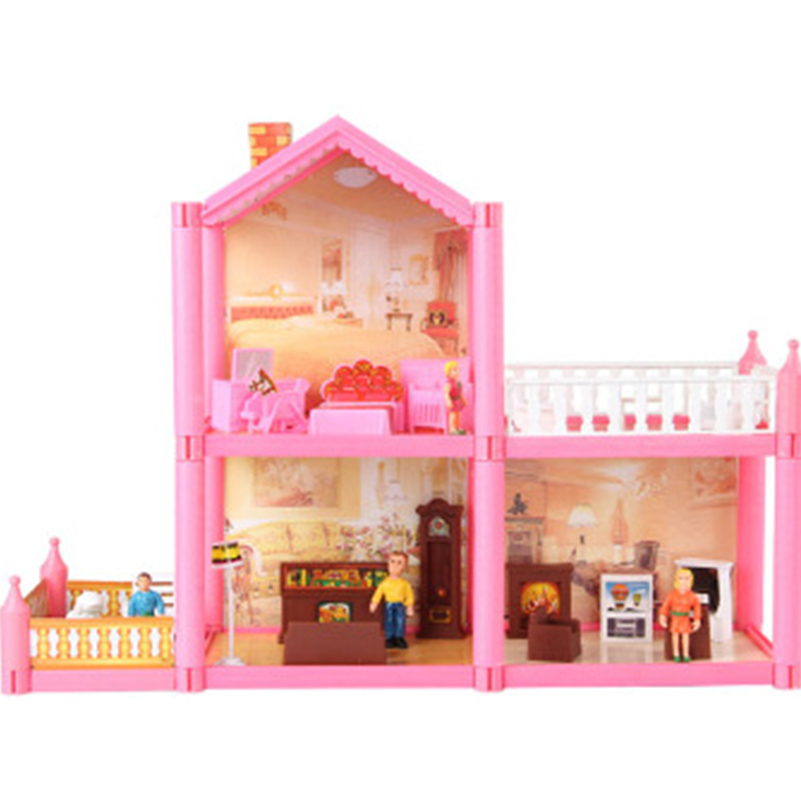 50,5*37 СМ № 953 DIY Семья Кукольный дом игрушки 2 этажа кукольный домик Playset с миниатюрными садовая мебель игрушки для девочек Подарки