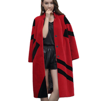 Womens Wool Fur Jackets Winter Fashion Beautiful Temperament Long Coat Stand Large Size Warm New High