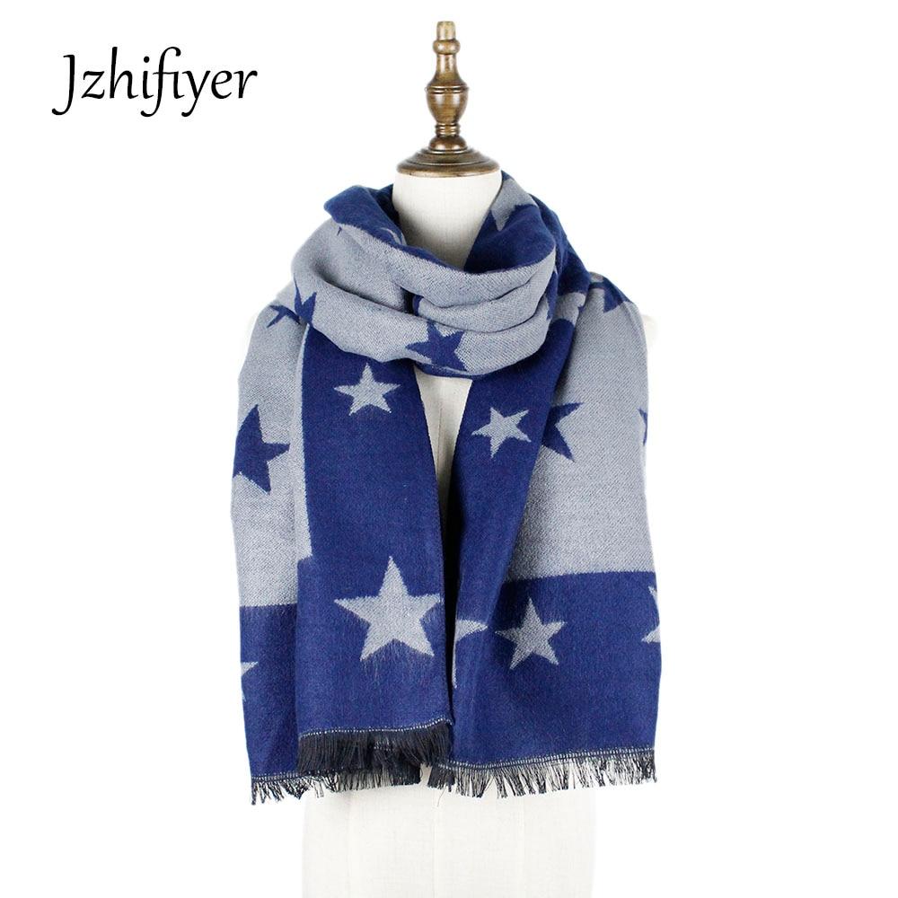 jzhifiyer YX142 scarf high quality scarves five-stars fashion warm acrylic shawls womens scarves hawkers scarves fashion