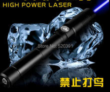 High Power Military 500w 500000m Blue Laser Pointer 450nm SOS Flashlight light Burning Match/candle lit cigarette wicked Hunting