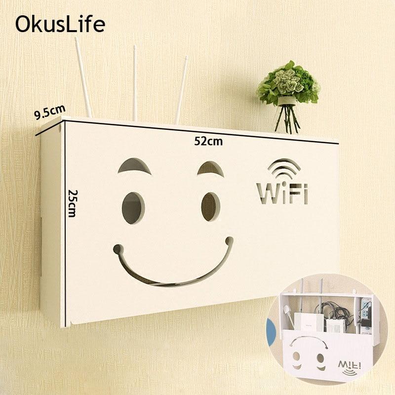 Wand-montiert Holz Drahtlose Wifi Router Lagerung Box Regal Wand Behänge Halterung Kabel Lagerung 3 Größen Dekoration Rack