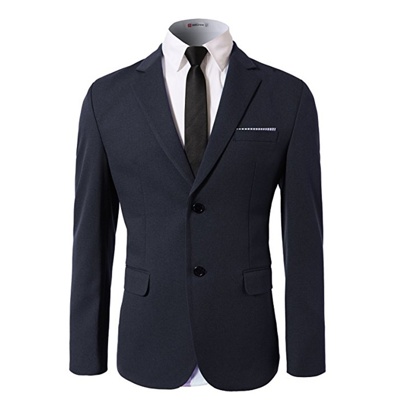 New men's suit jacket solid suit collar two buttons men's prom ceremony jacket and office suite jacket custom made