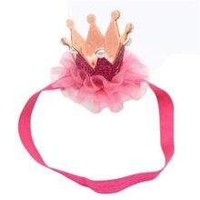 Детские прекрасные Обувь для девочек головы ленты для волос голова девушка Интимные Аксессуары Hairband Детские волосы группы эластичный цветок корона Головные уборы Быстрая