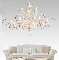 Phube Lighting American Style Crystal Tree Chandelier Living Room Restaurant Bedroom Colorful Crystal Chandelier Light