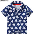 Little maven 2017 nova bebê meninos roupas de verão camisa pólo de algodão marca de moda pentagrama crianças estrela impressão roupas de marca p005