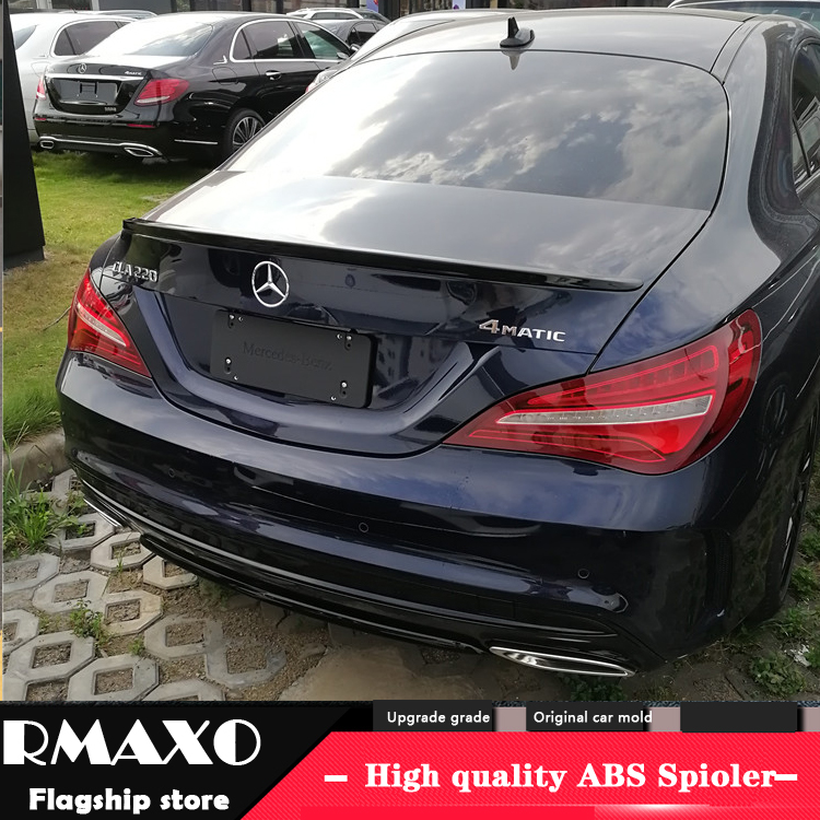 MERCEDES BENZ CLA 4-DOOR FLUSH MOUNT UNPAINTED REAR WING SPOILER 2014-2018