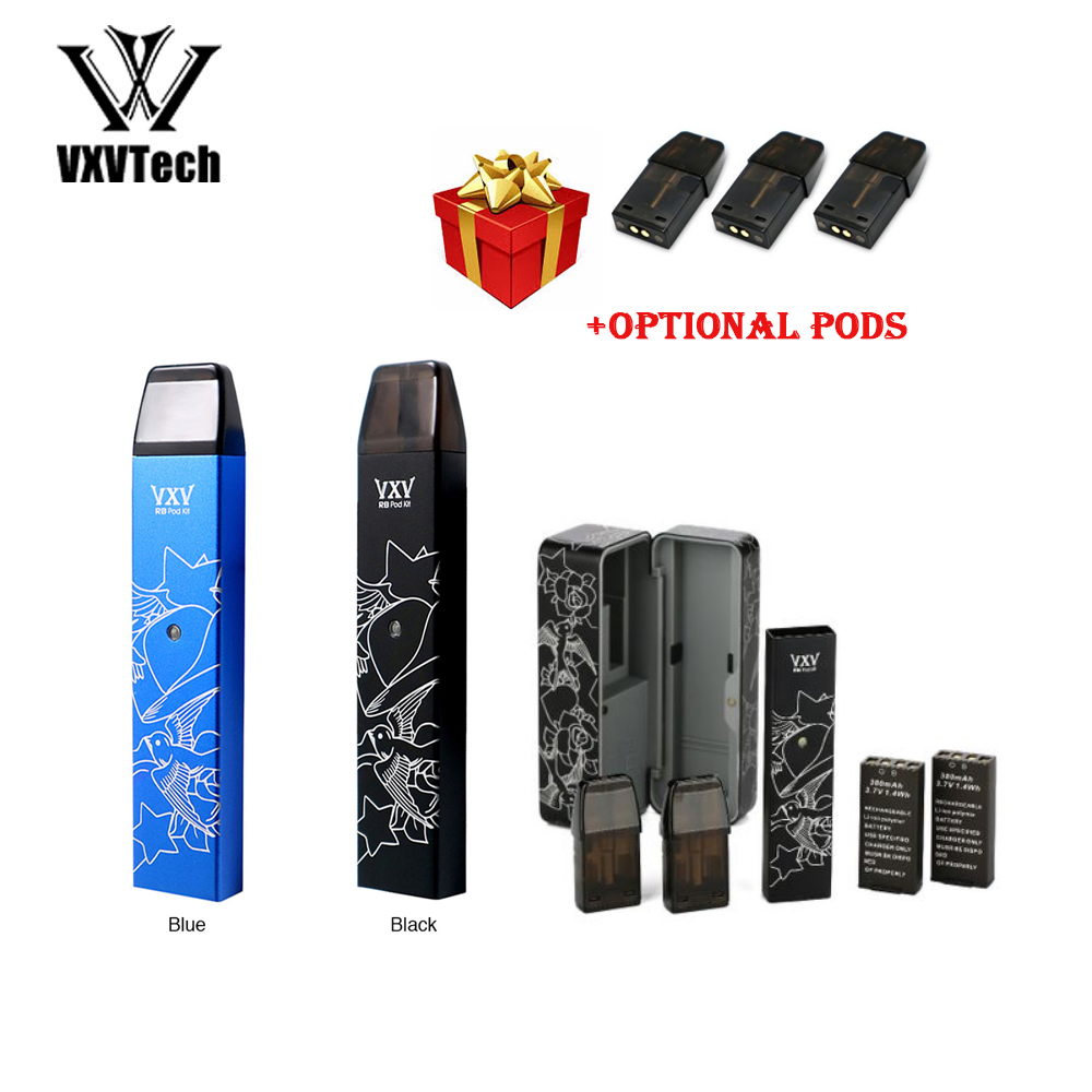 Heavengifts VXV RB Pod Kit with 380mAh Battery with Charging Dock & 2.5ml Pod Vape Kit Vape Vaporizer VS Minifit/ Drag Nano(China)