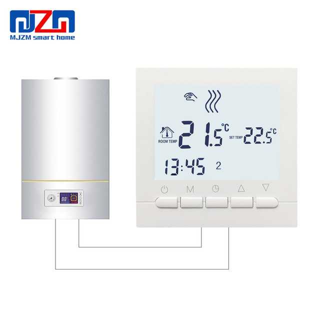 MJZM BGL02 5 LCD Thermoregulator Gas Boiler Heating Temperature ...