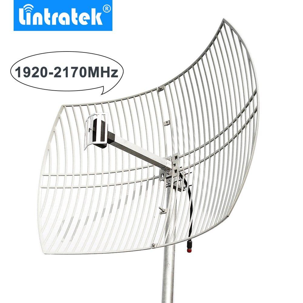 20dBi 3G antenne de grille 3G 2100 MHz antenne extérieure grande couverture pour UMTS 2100 MHz téléphones mobiles Signal répéteur amplificateur/