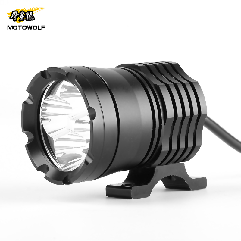 Prix pour Motowolf 60 W Moto Phares DC 12 V-60 V Univesal Moto Projecteur Head Light Lampe LL-L6