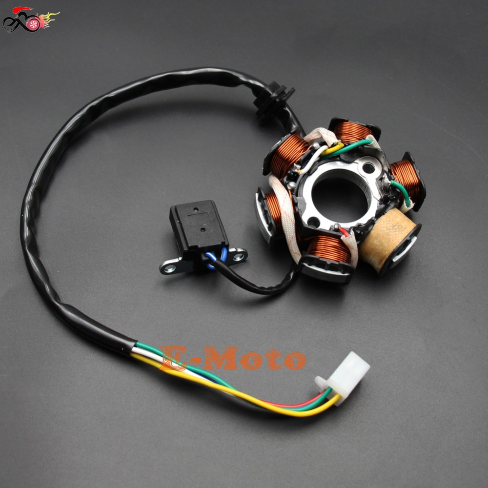 Magneto Stator 6 Pole Gy6 125cc 150cc Fly Vento Panterra Cool Sports 200cc Chinese Atv Wiring Scooter New In Motorbike Ingition From Automobiles Motorcycles On
