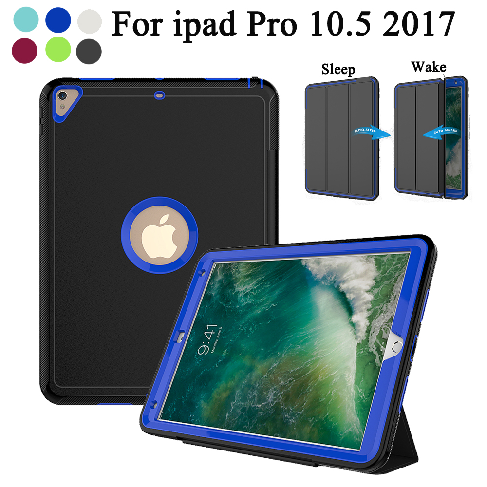 Buy Cheap For Apple New Ipad Pro 10.5 2017 A1701 A1709 Kids Siliocn Shockproof Armor Hybrid Defender Kickstand Auto Wake Case Cover Computer & Office