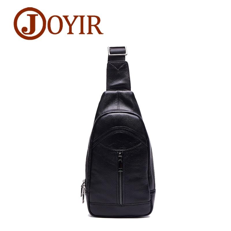 Joyir New Genuine Leather Men Handbags Chest Bag brand Pack Crossbody Shoulder Bags Messenger Bolsas for Male fashion vintage fo 85523 статуэтка пилот the pilot forchino 783843