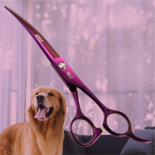 Fenice Professional Classic Purple JP440C 7.0 inch Curved Scissors for Pet Dog Animal Grooming