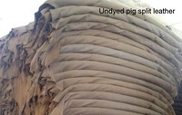 Undyed Raw Genuine Pig Skin Split Leather Material For Wholesale