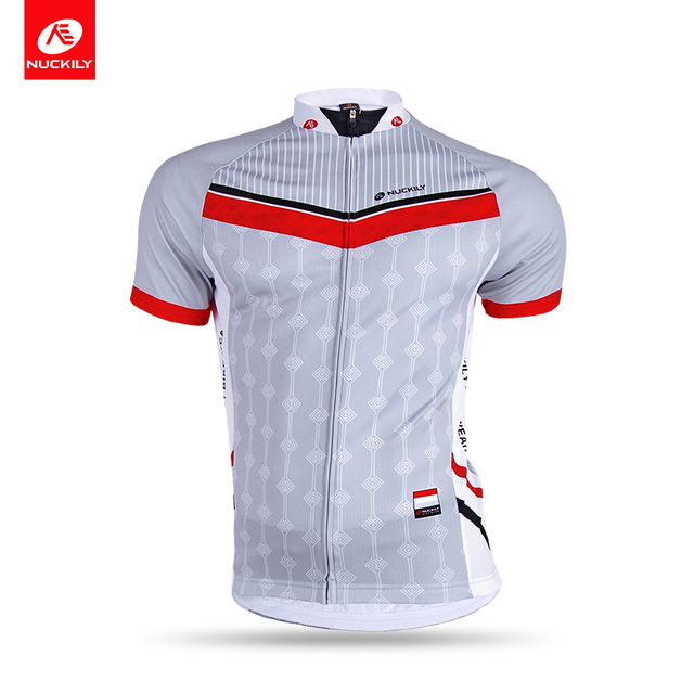 NUCKILY Short Sleeve Cycling Wear Summer Polyester Bicycle Jersey Sport  Clothing For Men AJ233 e737ed08f