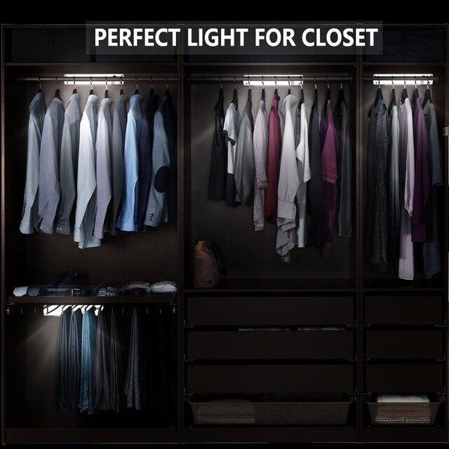Kitchen Stairway LED Lights Wireless Sensor Cabinet Wardrobe Closet Lamp Super Bright Indoor Easy Installation Battery Powered
