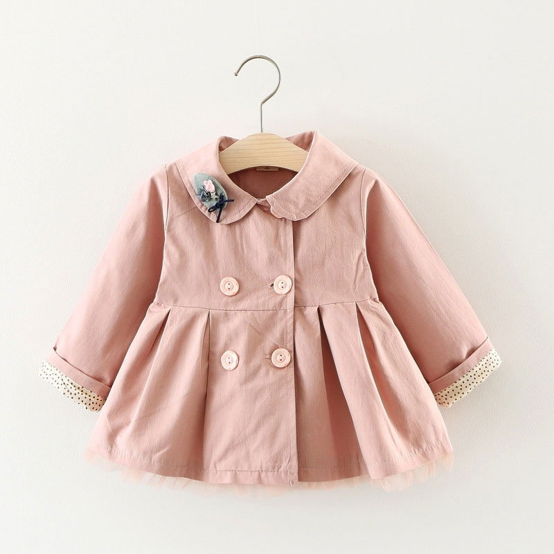 Spring Autumn Trench Coat for Newborn Baby Girl Warm Outerwear Sport Clothes Inf
