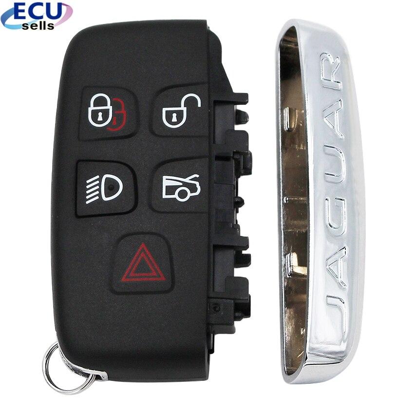 High Quality New 5 Button Smart Key Remote Key Shell Case Fob For JAGUAR XJ XJL XF