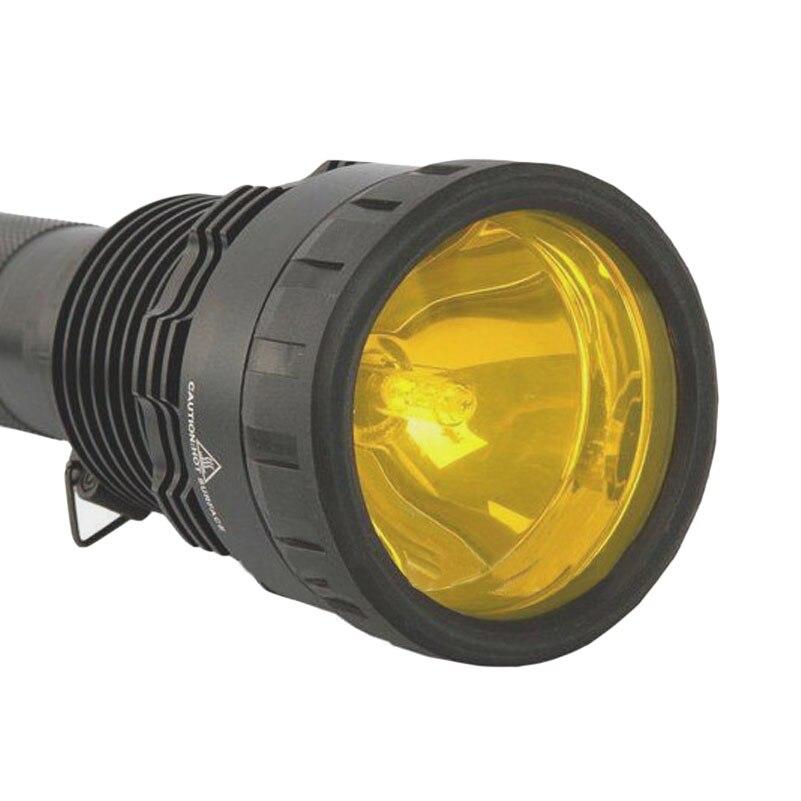 HID Xenon Flashlight 85W Spotlight Xenon Light 8500 Lumens Tail Light Black Aluminum Alloy HID Flashlight