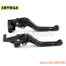 For YAMAHA MT-07 2014 Motorcycle Accessories CNC Billet Aluminum Black Short Brake Clutch Levers logo