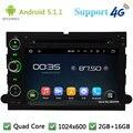 5.1.1 Quad Core 1024*600 Android Coches Reproductor de DVD GPS de Radio Para Ford F150 F250 Mustang Explorer Edge Expedición escapar Freestyle