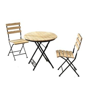 Zestaw ogrodowy meble ogrodowe składane meble ogrodowe meble ogrodowe muebles de jardin z litego drewna + 1 stół + 2 zestaw mebli z krzesłami tanie i dobre opinie Ogród zestaw Nowoczesne Ecoz Metal iron