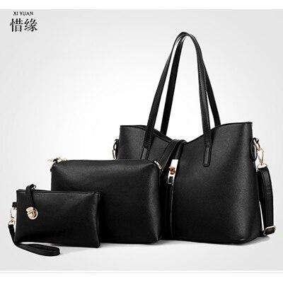 XIYUAN marque femmes mode PU cuir Composite sacs à main fourre-tout épaule sac à main sac à main porte-clé marque sac à main Bolso de Hombro