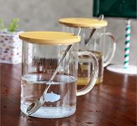 Free Shipping High Quality Animal Design Glass Cup Student Juice Mug Flower Tea Cup Water Mug