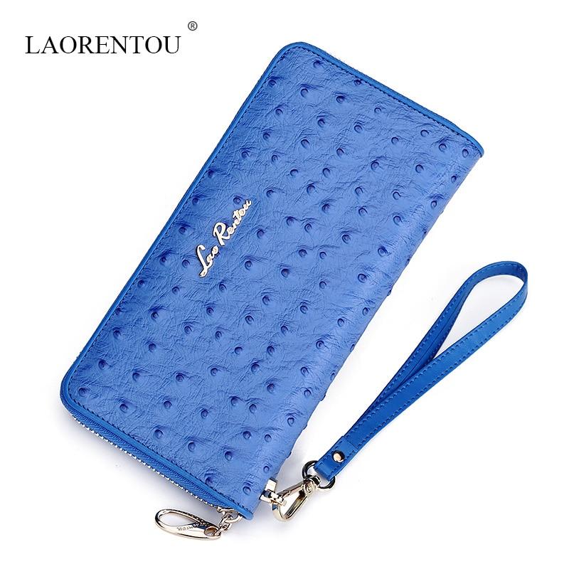 ФОТО LAORENTOU women 2016 New High Quality fashion three colors clutch purse brand designer money clip Wallet ladies long Wallets
