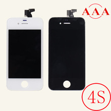100% Test Best Quality LCD Display For Iphone 4/4S Touch Screen Digitizer Assembly Black White LCD Replacement Screen Parts