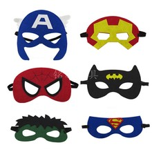 Baby Boy Girl Super Hero Eye Mask SFashion Cartoon Hulk Flash Cosplay Party Hallowmas(China)