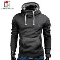 2018 New Spring Autumn Hoodies Men Fashion Brand Pullover Solid Color Turtleneck Sportswear Sweatshirt Men S