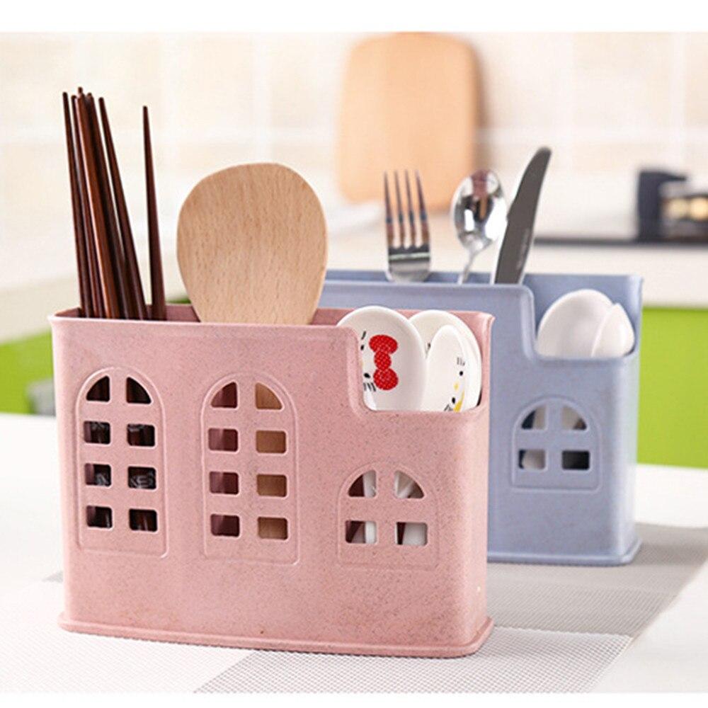 Environmental Protection Wheat Straw Kitchen Chopsticks Cage Spoon Storage Box Storage Rack Tube Drain Chopsticks Holder