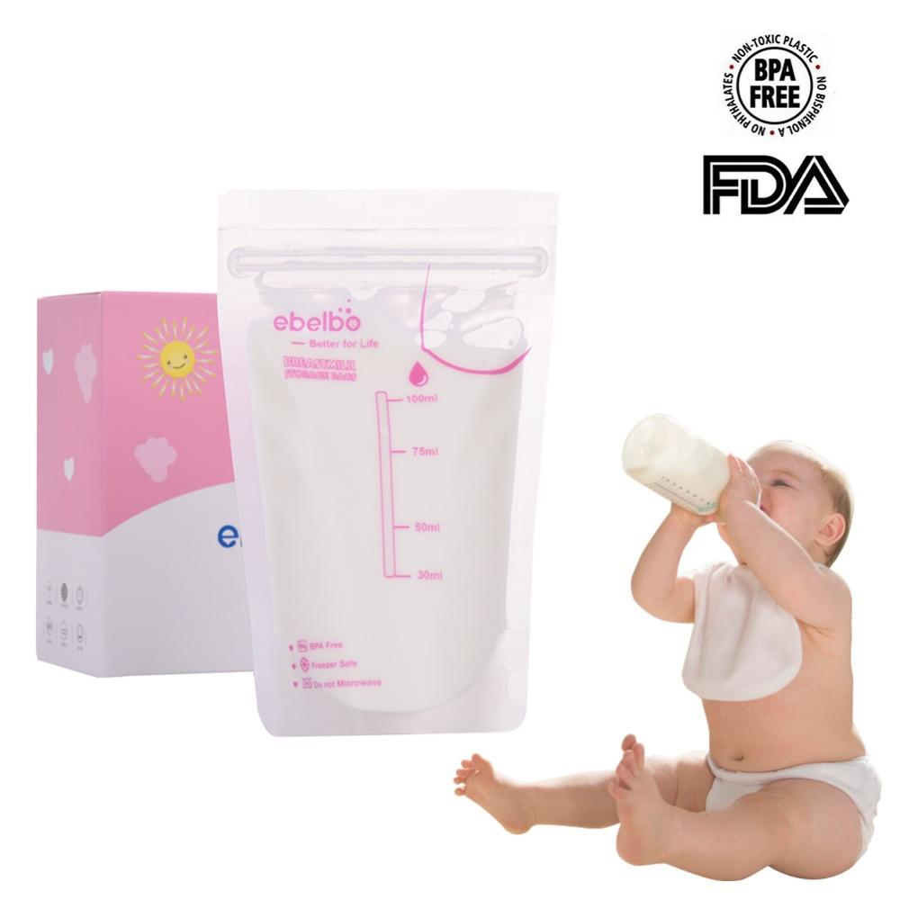 30Pcs/lot Breast Milk Storage Bag 100ml Mother Postpartum Supplie Nursing Milk Sandwich Bag  Disposable Practical And Convenient
