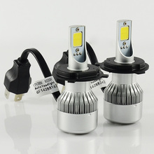 1set H4 Hi/Lo Car Led Headlight 72W 6000LM LED headlamp 6000K LED COB SMD For Car Auto LED Headlamp DRL Fog