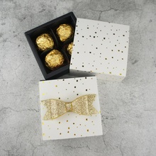 8.9*8.9*3.5CM gold star design 10 set Chocolate Paper Box valentine Christmas Birthday Party Gifts Packing Storage Boxes