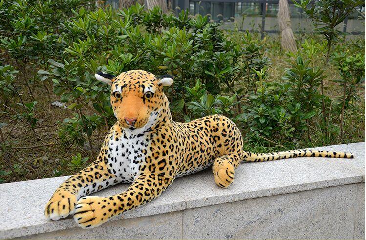 Grande 85 cm simulazione leopardo maculato incline leopardo peluche, regalo di compleanno 0549Grande 85 cm simulazione leopardo maculato incline leopardo peluche, regalo di compleanno 0549