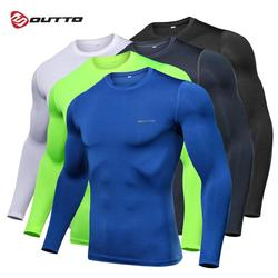 Outto Men's Cycling Base Layers Long Sleeves Compression Quick Dry Fitness Gym Running Bicycle Underwear