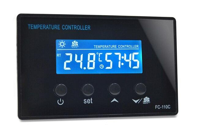 Digital Display Thermostat MINI Sauna Intelligent Temperature Controller Pedicure Barrel Temperature Regulator FC-110C